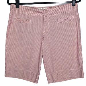 Anthropologie tiny stripe Bermuda shorts
